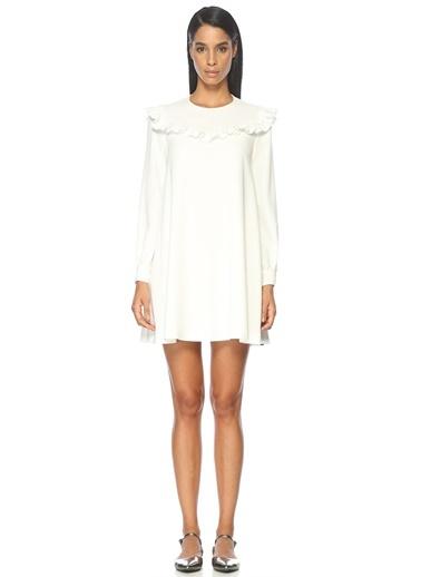 Fırfır Detaylı Mini Elbise-Academia